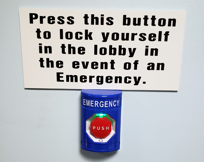 Emergency Lock-Down Button